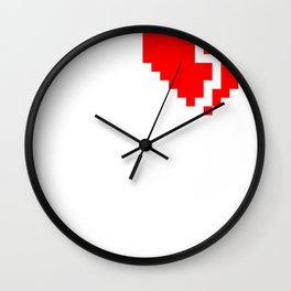 broken pixel heart Wall Clock