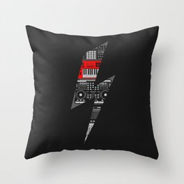 Electro Music  Throw Pillow