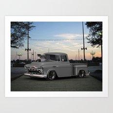 57 3100 #Chevrolet Truck by @ernhrtfan Art Print