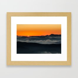 Ridges at Sunrise Framed Art Print