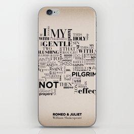 Romeo & Juliet typographic composition iPhone Skin