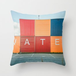 Amsterdam Noord Containers Throw Pillow