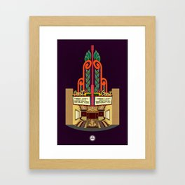 Crest Theater Framed Art Print