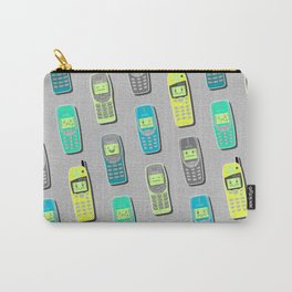 Vintage Cellphone Pattern Carry-All Pouch