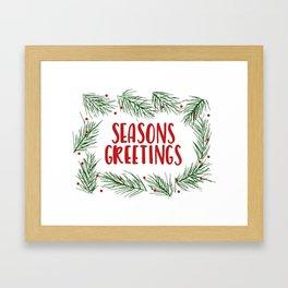 Seasons Greetings Wreath Framed Art Print