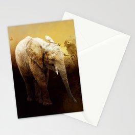 The cute elephant calf Stationery Cards