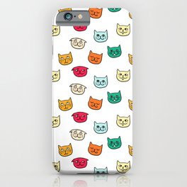 Cat heads in colors iPhone Case