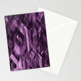 Abstract violet pattern Stationery Cards