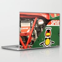 ducati Laptop & iPad Skins featuring Ducati Motor by Internal Combustion