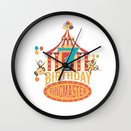 7th Birthday Ringmaster Kids Circus Lover B-day Party product Wall Clock