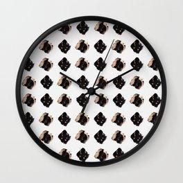 Black and gold diamond pattern Wall Clock