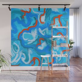 Phthalo Blue Wall Mural