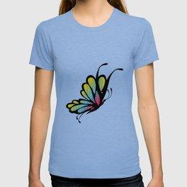 Mosaic Butterfly on Emerald Green T-shirt