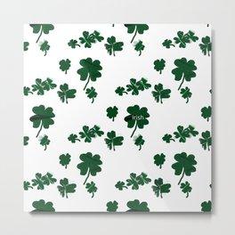 Luck of the Irish Four Leaf Clover Metal Print