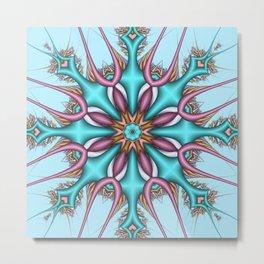 Pastel Pattern Kaleidoscope with optical effects Metal Print