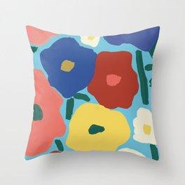 Flower Market Lima Throw Pillow