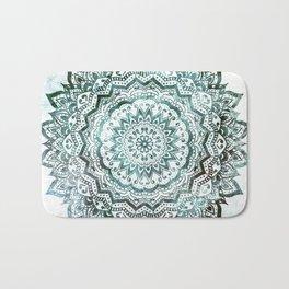 Emerald Jewel Mandala Bath Mat