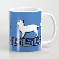 greece Mugs featuring Greece Cats by LoRo  Art & Pictures