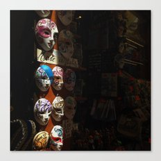 Venetian masks (2) Canvas Print