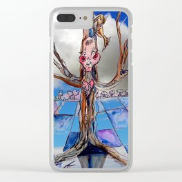 Jester B's Tree Clear iPhone Case
