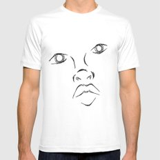 The face Mens Fitted Tee White MEDIUM