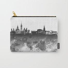 Design 106 Ottawa Skyline B/W Carry-All Pouch