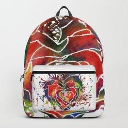 Rainbow Rose Love Heart Backpack