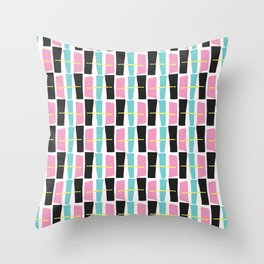 Memphis Style Geometric Abstract Seamless Drawn Pop Art Throw Pillow