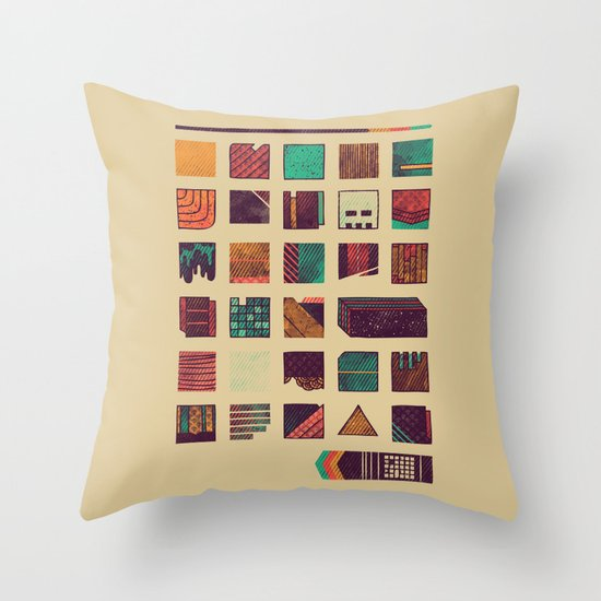 Swatches Throw Pillow