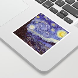 Vincent Van Gogh Starry Night Sticker