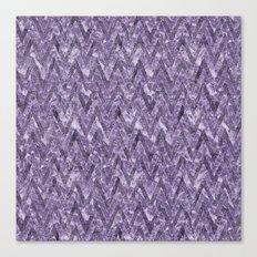 Glam Purple Chevron Stripes Canvas Print