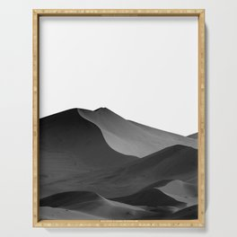 dunes(Black and white) Serving Tray