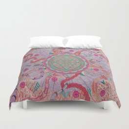 """The wheel of life"" Duvet Cover"