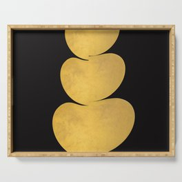 Gold ovals Serving Tray