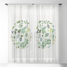 Circle of Leaves Sheer Curtain