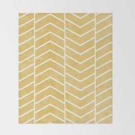 Yellow Chevron Throw Blanket
