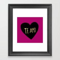 Te Amo II Framed Art Print