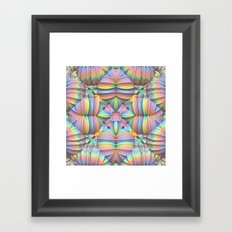 Symmetry in Pastels Framed Art Print