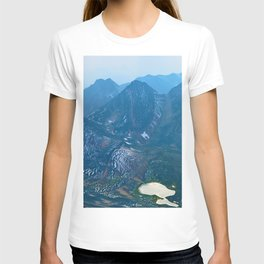 View from the summit of Pyramid Mountain in Japser National Park, Canada T-shirt
