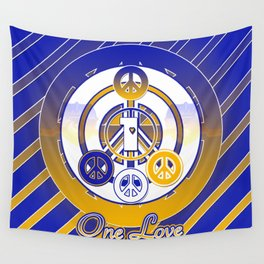 One Love (Blue) Wall Tapestry