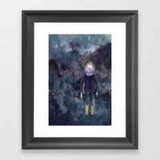 The Boy in the Yellow Boots Framed Art Print