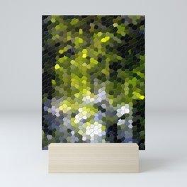Green mosaic tile abstract Mini Art Print