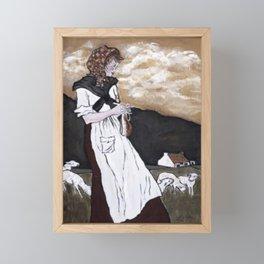 Lace Curtain Irish Framed Mini Art Print