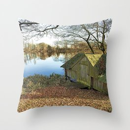 The Old Boathouse Colour Throw Pillow