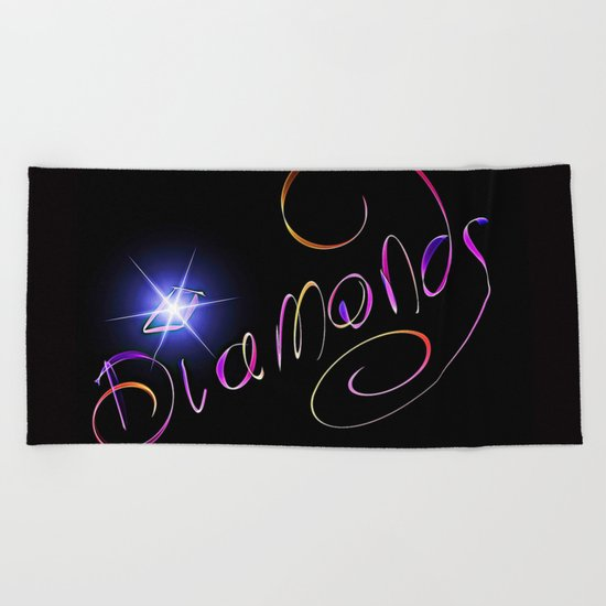 A Girl's Best Friend Beach Towel