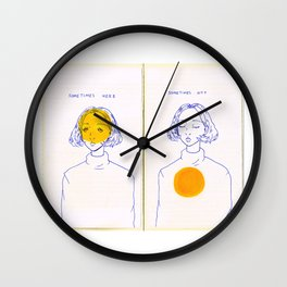 Sometimes Here, Sometimes Not Wall Clock