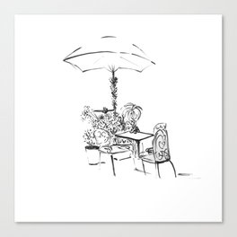 Black and White Sketch Canvas Print