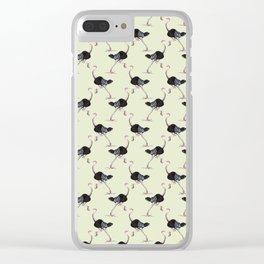 ostrich in high heels Clear iPhone Case