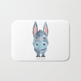 Water Colour Baby Donkey Bath Mat