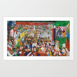 James Ensor Entry into Brussels Art Print